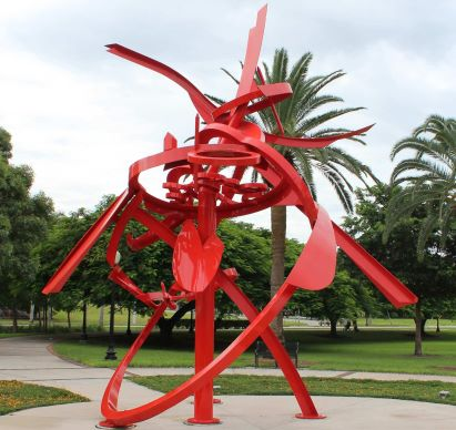 Fire Dance Sculpture
