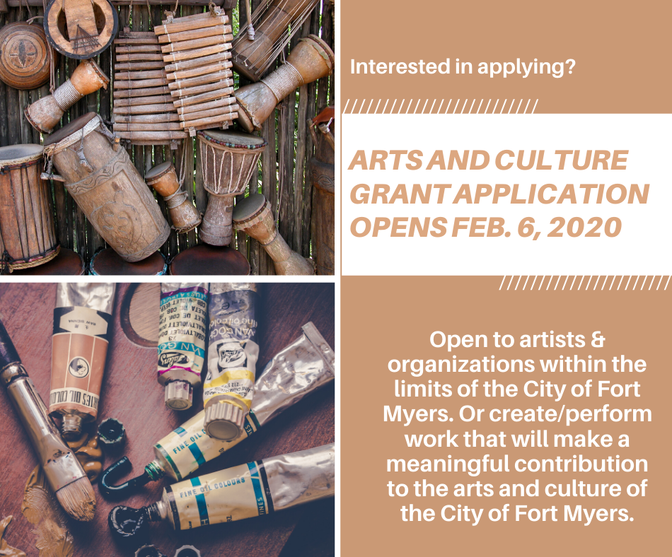 Arts and culture grant application image