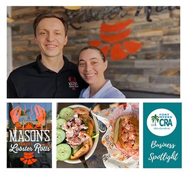 Masons Famous Lobster Rolls Fort Myers CRA Business Spotlight Redevelopment Works Pictures of Owners