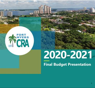 Fort Myers Community Redevelopment Agency Fiscal Year 2020-2021 Budget Cover