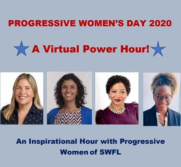 Progressive Women's Day 2020 A Virtual Power Hour An Inspirational Hour with Progressive Women of