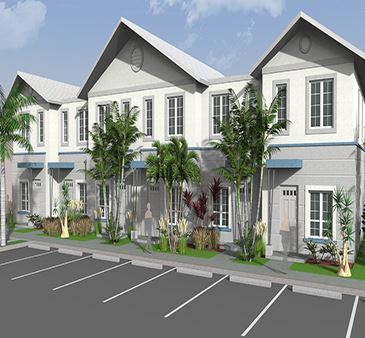 Towles Garden Rendering Six Plex View