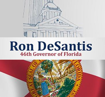 Ron DeSantis 44th Governor of Florida Banner