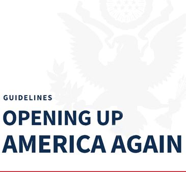 White House Guidelines Opening Up America Again Image with Eagle