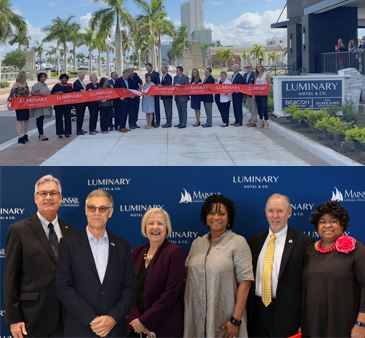 Luminary Hotel Ribbon Cutting with Community Redevelopment Agency leadership